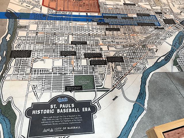 The St. Paul city map