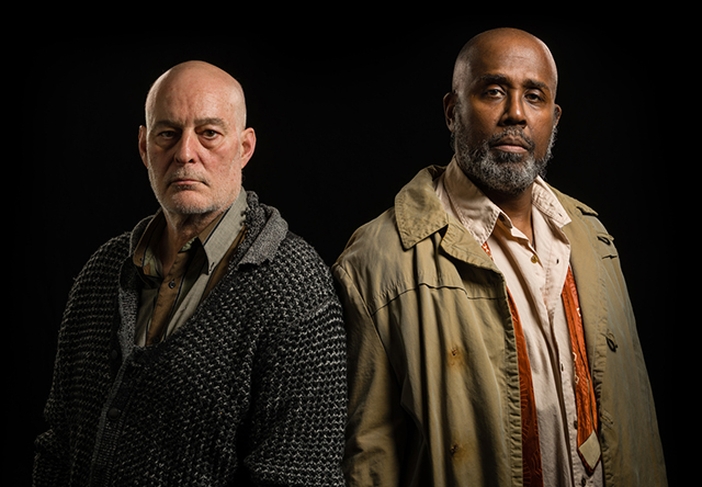 """Stephen Yoakam and James A. Williams appearing in """"Blood Knot."""""""