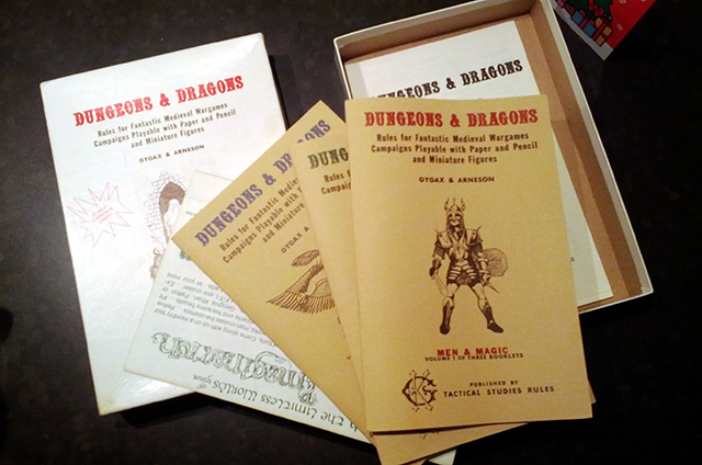 photo of rule set for 1974 dungeons and dragons