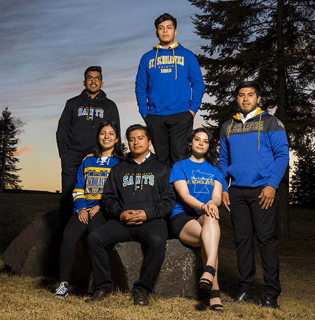 From left: Allen Cruz, Chantell Armijo-Cruz, Jason Chavez-Cruz, Josue Cino-Cruz, Lidia Angeles-Cruz and Bryan Chavez-Cruz.