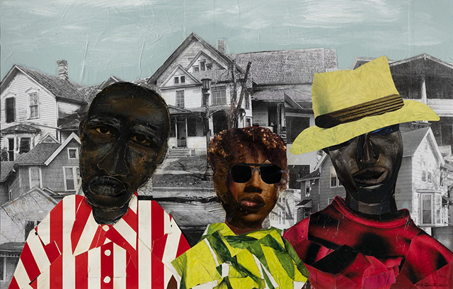 "Melvin Smith, ""Combs Family,"" 2003 paper collage"