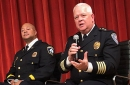 Minneapolis police inspector Eddie Frizell and Metro Transit's interim chief, A.J. Olson