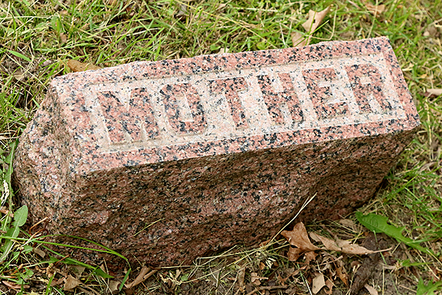 A grave marker in the old St. Anthony Township Cemetery.
