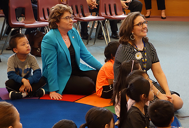 State Sen. Carla Nelson and Education Commissioner Mary Cathryn Ricker