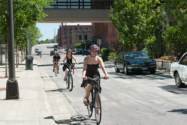In the Twin Cities, men bike to work at twice the rate women