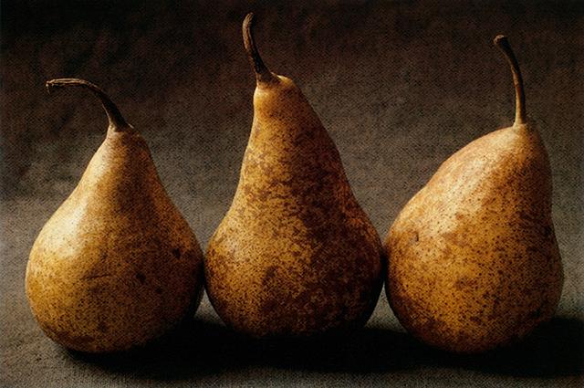 """""""Pear Triptych III"""" by Cy DeCosse"""