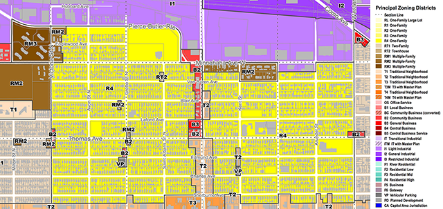 Frogtown Zoning Map (Click to enlarge)