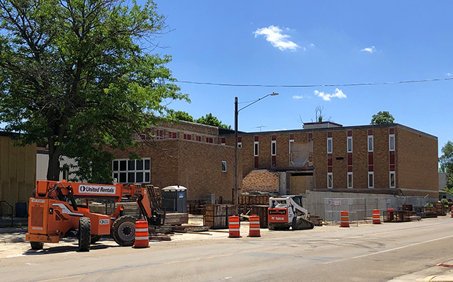 Renovations underway at the soon-to-be Minnesota College of Osteopathic Medicine.