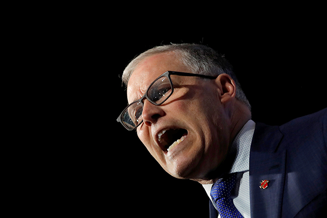 Democratic presidential candidate Jay Inslee