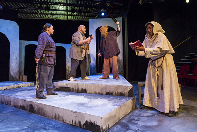 "A scene from Theatre Unbound's Spring 2018 production of ""Measure for Measure."""