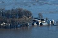Flooded farms