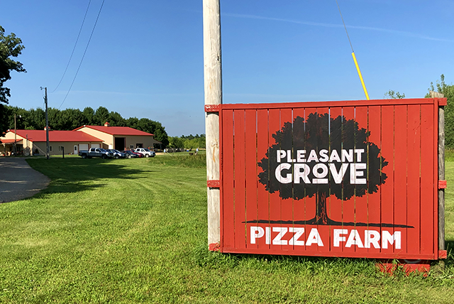 Pleasant Grove Pizza Farm is located about 10 miles north of Waseca.