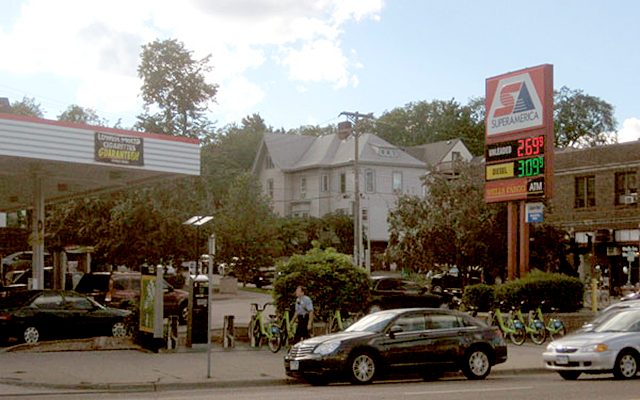 Gas stations like this might become nonconforming under new changes in the Minneapolis zoning code.