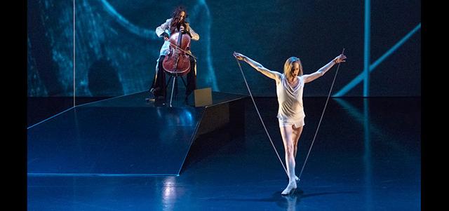 """Cellist Maya Beiser and dancer Wendy Whelan in """"The Day."""""""