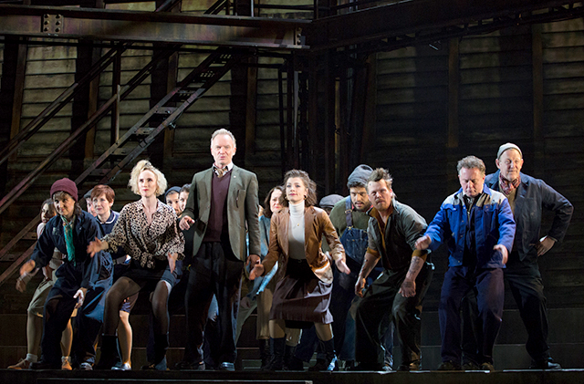 "Sting and the cast of the 2019 Toronto production of ""The Last Ship."""