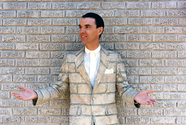 "David Byrne starred and directed the 1986 film ""True Stories."""
