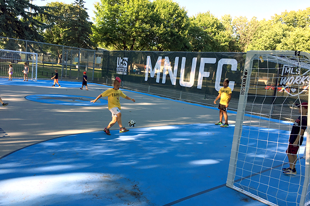"""The """"futsal"""" court at the West 7th Rec Center."""