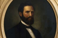 photo of painted portrait of horace austin