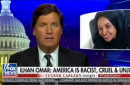 screen shot of tucker carlson's show