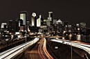 photo of minneapolis skyline at night