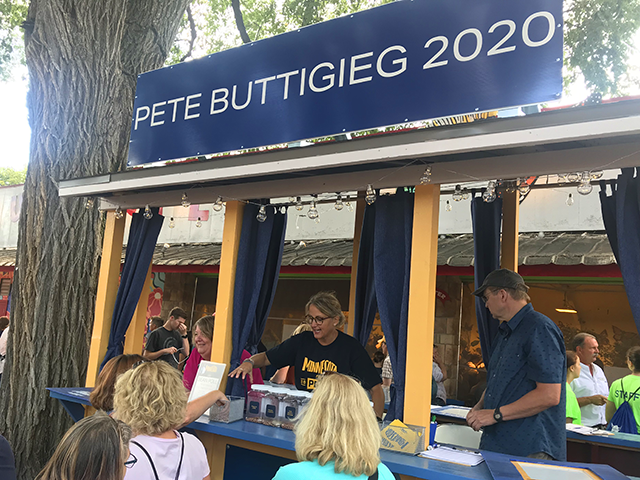 Buttigieg fair booth