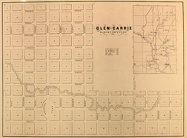 Map of Glen Carrie