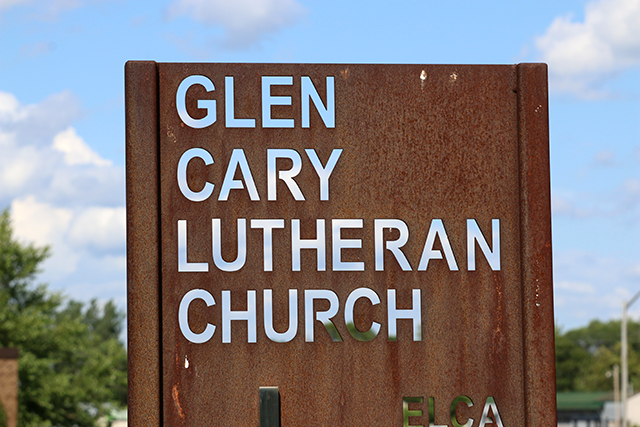 Just off Central Avenue north of Minneapolis is a Glen Cary Lutheran Church.