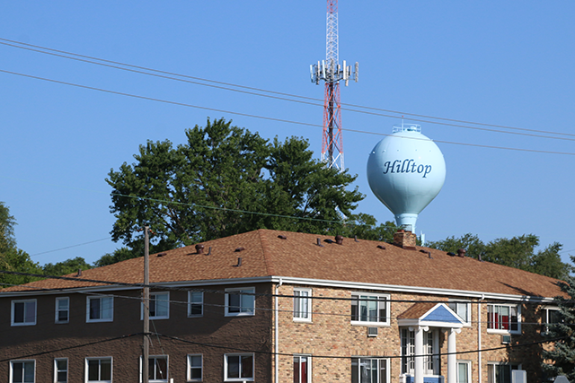 Hilltop water tower