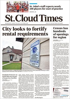 Gannett's sole presence in Minnesota is the daily St. Cloud Times.