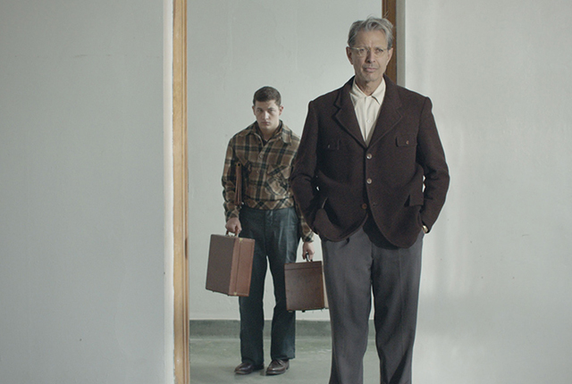"Tye Sheridan and Jeff Goldblum in a scene from ""The Mountain."""