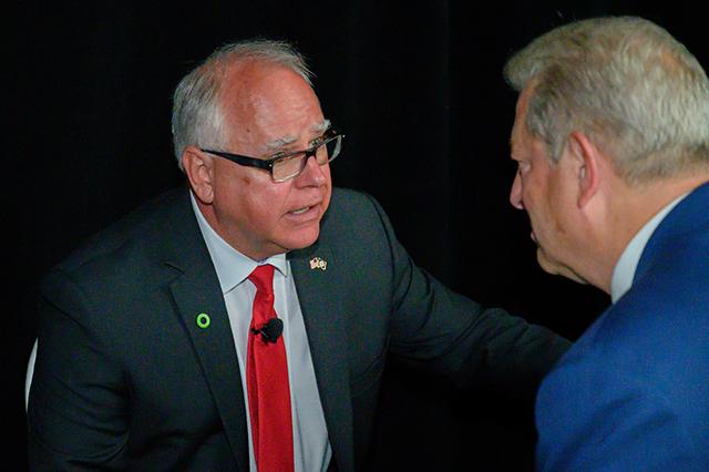 Gov. Tim Walz, Al Gore