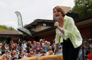 photo of Amy Klobuchar at Iowa State Fair