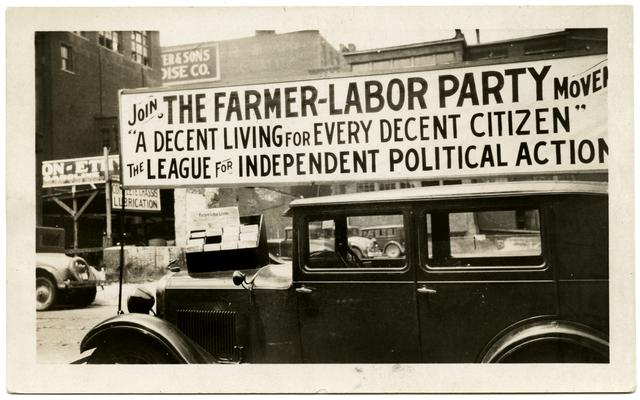 Farmer-Labor political poster