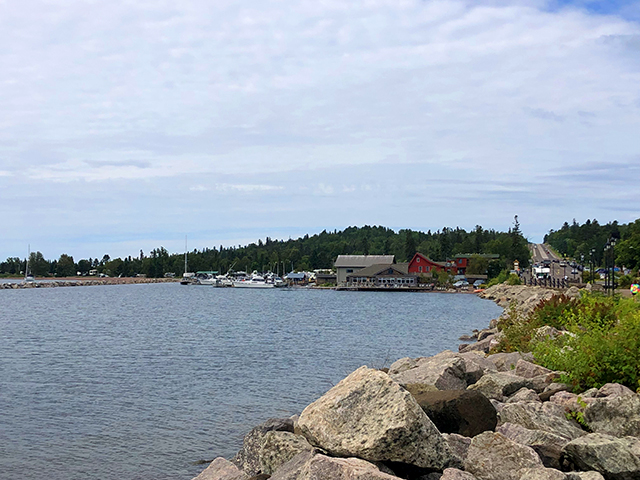 The harbor in Grand Marais.