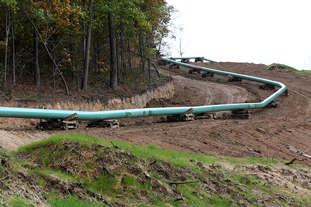 natural gas line