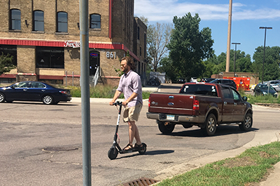 Scooter on Hennepin