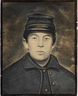 historic photo of woolson in civil war uniform