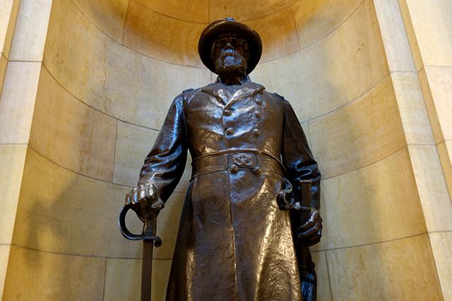 The statue of William Colvill