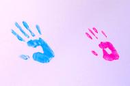 handprints of program graduates