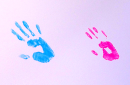handprints of program graduates