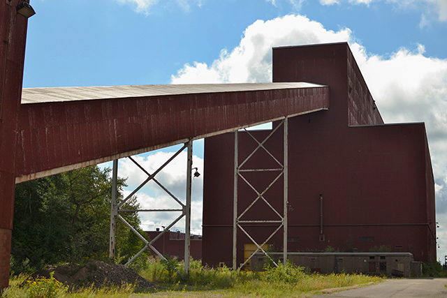 Leftover structures from an old LTV Steel taconite facility