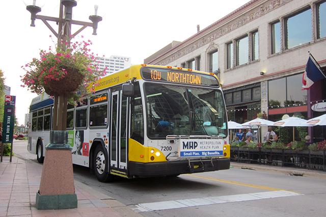 Nicollet Mall Metro Transit bus to Northtown