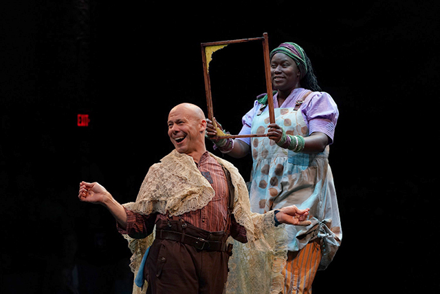 "Dean Holt and Joy Dolo in ""Snow White."""
