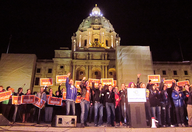 photo of rally outside minnesota capitol