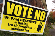 trash lawn sign