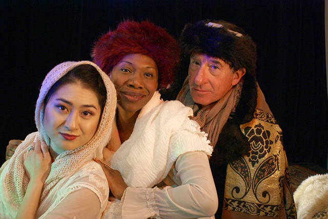 "Stephanie Bertumen, Shá Cage and Steven Epp in ""A Winter's Tale."""
