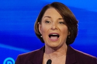photo of amy klobuchar at debate