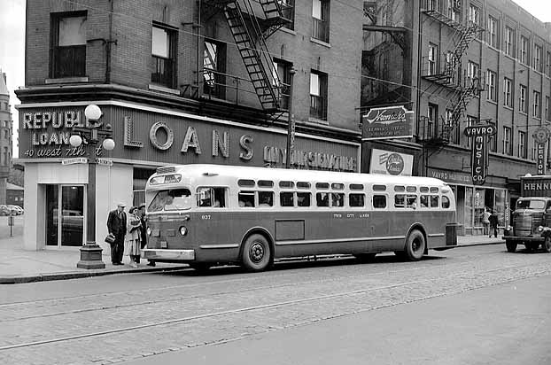 historical photo of twin city lines bus