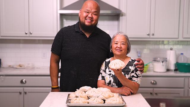 Chef Yia Vang and his mom, Pang Vang