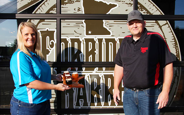 Cheryl and Brent Droll are the owners of Worthington's new Forbidden Barrel Brewing Co.